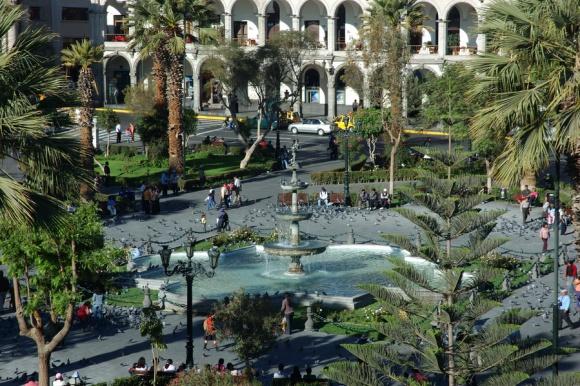 Glavni trg v Arequipi. Za mnoge najlepši trg v celi Južni Ameriki.